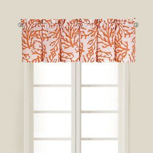 C&F Home Coral Blue Valance